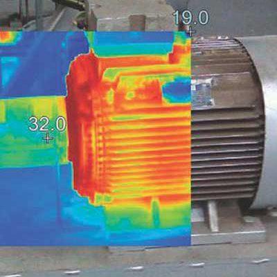 تصویر برداری حرارتی از ماشین آلات کارخانه