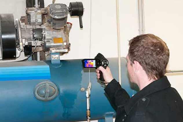 تصویربرداری حرارتی یک کمپرسور هوا